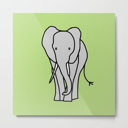 Big Elephant Metal Print