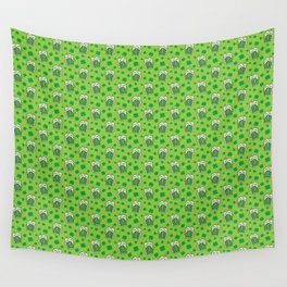 St Patrick's Day Green Beer Pattern Wall Tapestry