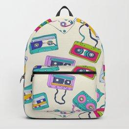Vintage Cassette Tape Pattern Backpack