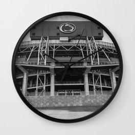 The Lion's Den Penn State Football Print Wall Clock