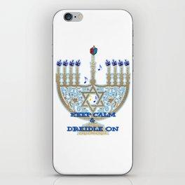 Keep Calm Dreidle On iPhone Skin