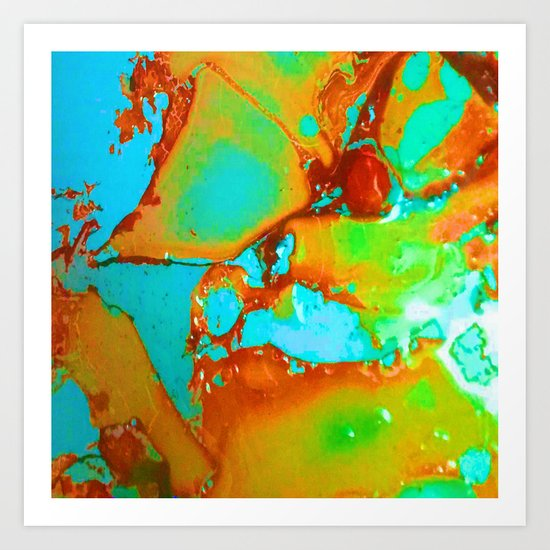 Orange to Blue Medley Art Print