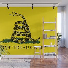 Don't Tread on Me Gadsden flag Wall Mural