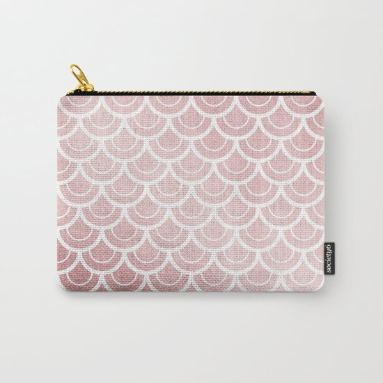 Simply Mermaid in Rose Gold Sunset Carry-All Pouch