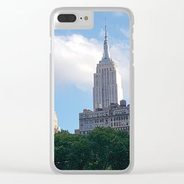 Empire State Building from Bryant Park Clear iPhone Case