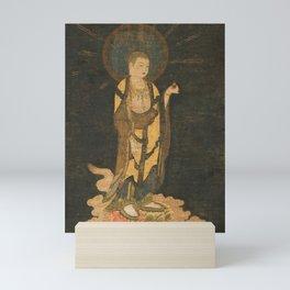 Welcoming Descent of Jizo 13th Century Japanese Scroll Mini Art Print