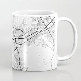 Minimal City Maps - Map Of Corona, California, United States Coffee Mug