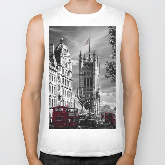 Red London Buses and Westminster Cathedral Biker Tank