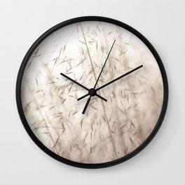 White pampas grass II Wall Clock