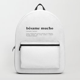 Bésame mucho Backpack