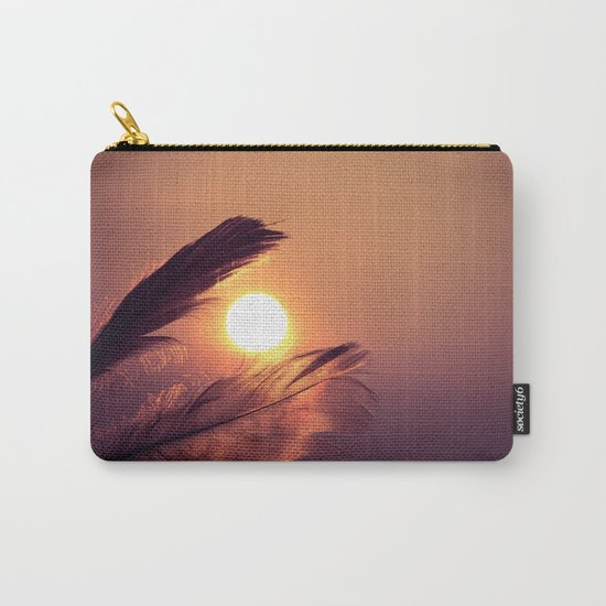 Sunset Feathers Carry-All Pouch