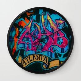 ATL Graffiti Wall Clock