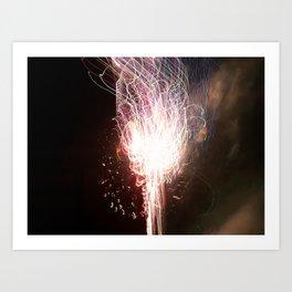 fireworks tracer Art Print