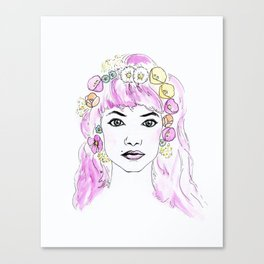 Imogen with Flower Crown Canvas Print