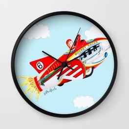 """Up, up and away!"", the rocket man yelled.  Wall Clock"