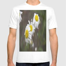 More flowers MEDIUM Mens Fitted Tee White