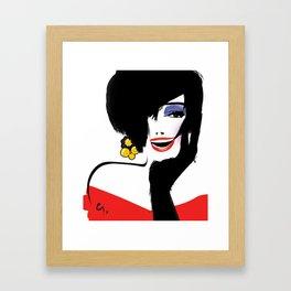 BlackHair Framed Art Print