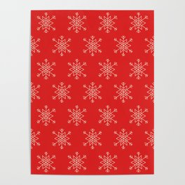 Seamless pattern with snowflakes Poster