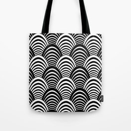 Black and White Art Deco Pattern Tote Bag