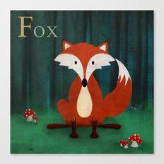 ABC Poster F - Fox Canvas Print