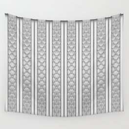Cool Frosted Steel Grey Quilted Geometric Design Wall Tapestry