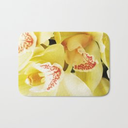 Yellow Orchids Bath Mat