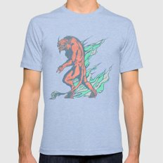 The Bull Tri-Blue LARGE Mens Fitted Tee