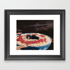 HELP YOURSELF Framed Art Print