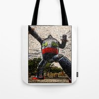 kobe Tote Bags featuring Guardian of Kobe By Eku Zhong by SLUniverse