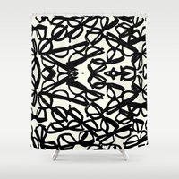 frames Shower Curtains featuring Frames by MORE BY JAMIE PRESTON