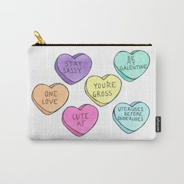 Honest Candy Hearts Carry-All Pouch