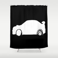 subaru Shower Curtains featuring Outlined by VHS Photography
