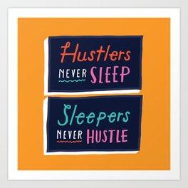 Never Sleep Art Print