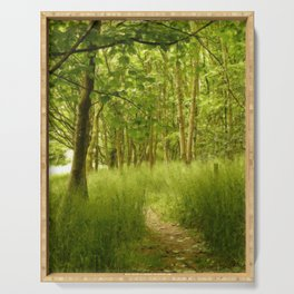 The Woodland Path Serving Tray