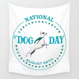 National Dog Day Wall Tapestry