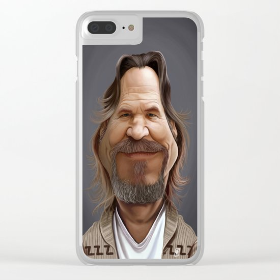 Jeff Bridges Clear iPhone Case