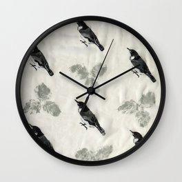 The Nuthatch Wall Clock