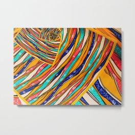 Colorful Creative Waves Metal Print