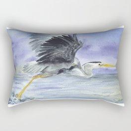 From Heron Out Rectangular Pillow