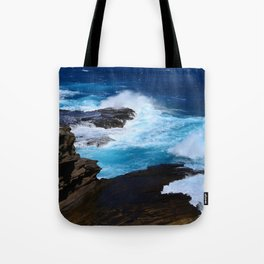 Luxurious, Tropical Ocean Surf in Azure and Turquoise Tote Bag