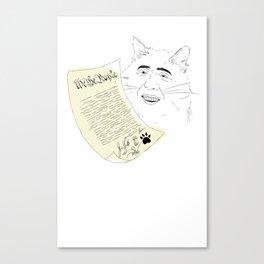 declaration  Canvas Print