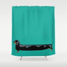 dachshund - wiener dog - i love my wiener Shower Curtain
