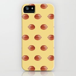 Kernel pattern in yellow iPhone Case