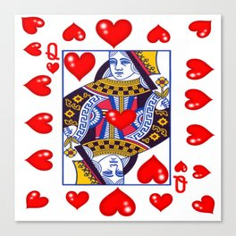 RED QUEEN OF HEARTS ART Canvas Print