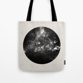 God's Window - Black And White Space Painting Tote Bag
