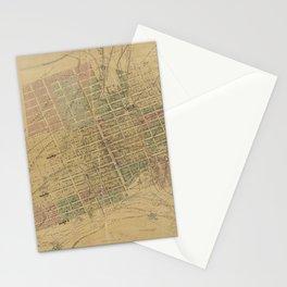 Vintage Leadville CO Map (1895) Stationery Cards