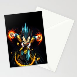 vegeta the war Stationery Cards