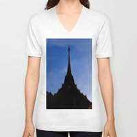 thailand V-neck T-shirts featuring THAILAND by habish
