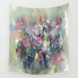 Impressionistic Watercolor of Sweet Peas Wall Tapestry