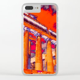 Parthenon (solarized) Clear iPhone Case